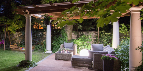 Pergola covered patio with beautiful design