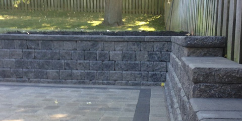 Retaining wall in landscape designs